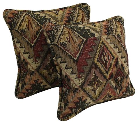 western decorative pillows blazing needles western collection corded tapestry