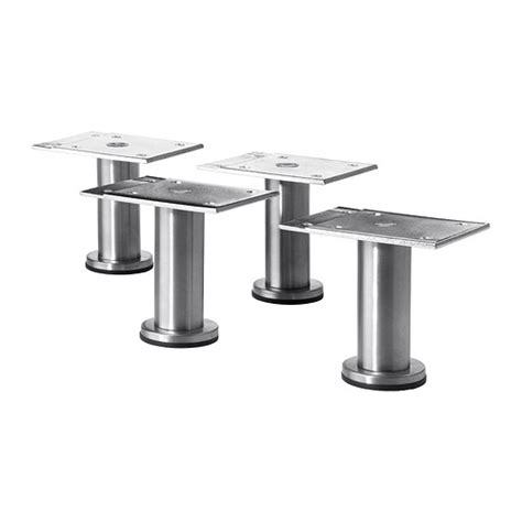 stainless steel cabinet legs imanisr capita leg stainless steel 8 cm ikea