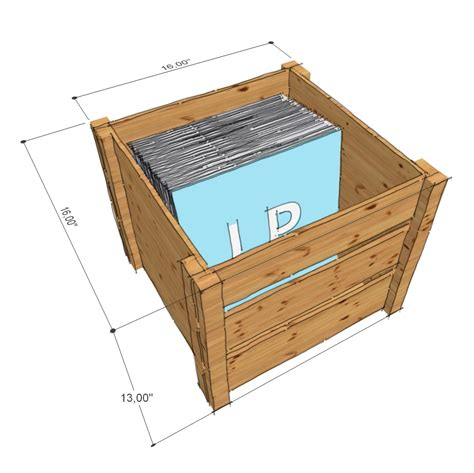 What Records Are Lp Record Storage Wooden Crate