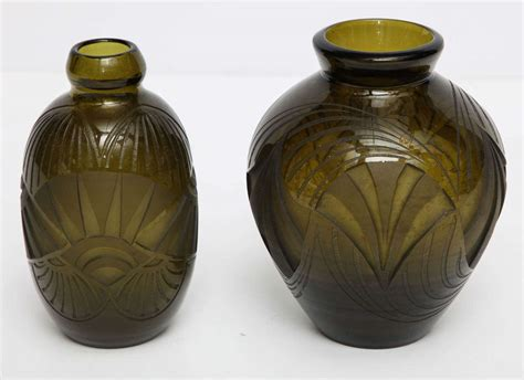 Etched Glass Vases by Acid Etched Glass Vase By Legras At 1stdibs