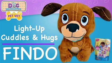 doc mcstuffins puppy doc mcstuffins findo pet vet light up cuddles and hugs findo with doc mcstuffins