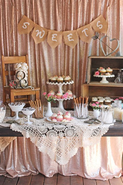 bridal shower round table decoration ideas diy wedding ideas