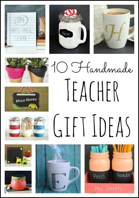 Handmade Gifts For Teachers From Students - 10 handmade gift ideas the country chic cottage