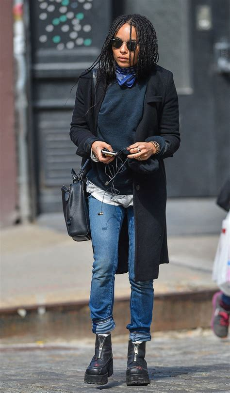 zoe kravitz casual outfits learn more fashion trends at vogueclips casual