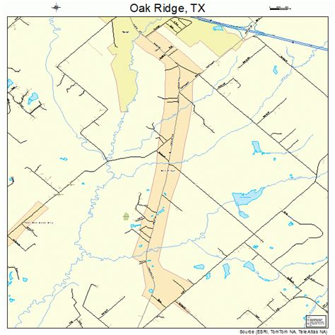 oak texas map oak ridge texas map 4853160