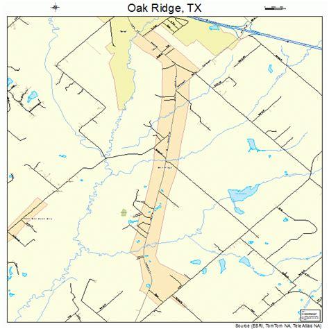 map of oak texas oak ridge texas map 4853160