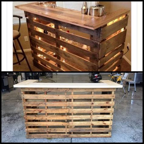 recycled pallets and 2 ikea lacks made an awesome rustic best 25 bar made from pallets ideas on pinterest cheap