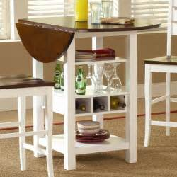 Ridgewood counter height drop leaf dining table with storage white