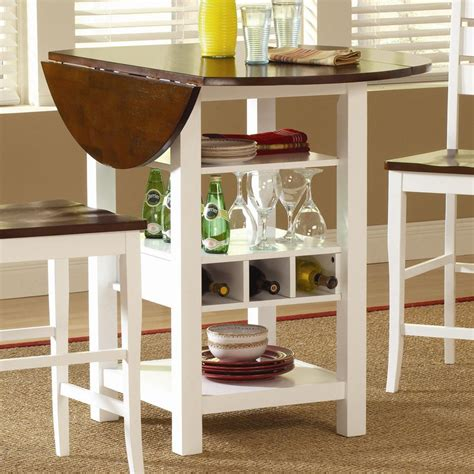 Storage Kitchen Table by Ridgewood Counter Height Drop Leaf Dining Table With