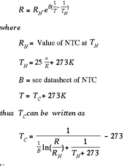 ntc resistor equation tuxgraphics org 365 a digital thermometer or talk i2c to your atmel microcontroller