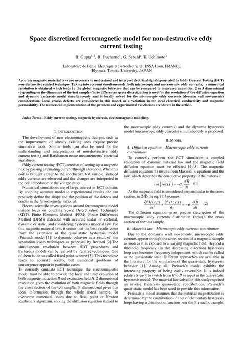 (PDF) Space discretized ferromagnetic model for non