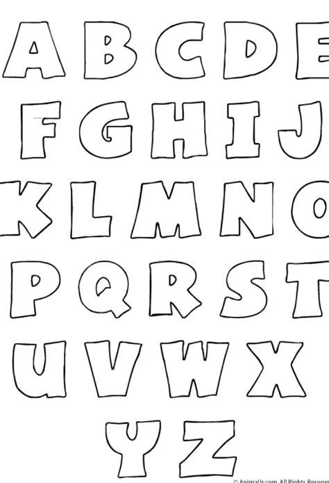 Plantilla para imprimir el abecedario. | Moldes de letras