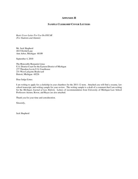 letter sle sle cover letter for job free cover