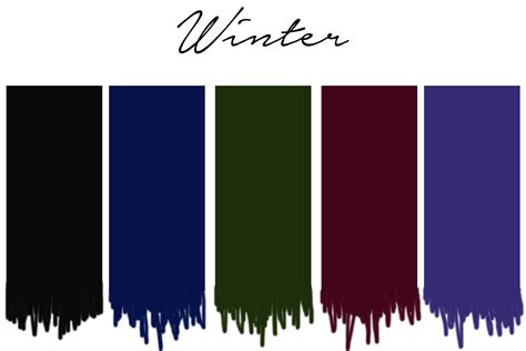 winter color schemes seasonal color analysis dressing your skin tone one