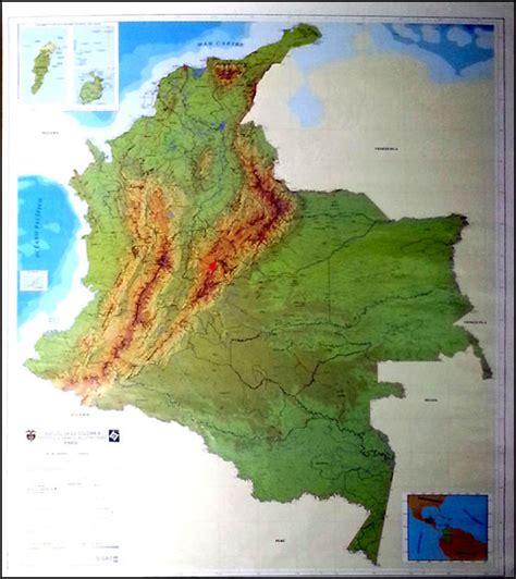 imagenes satelitales de colombia colombia mapa fisico