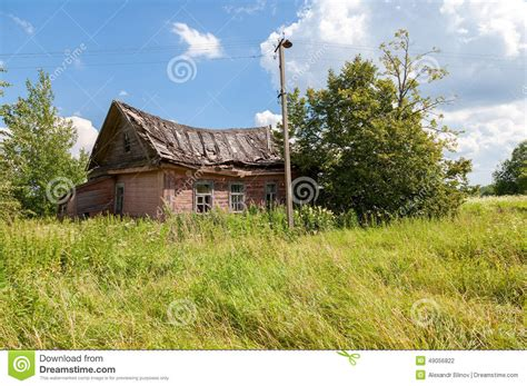 old wooden house in russian village stock photo colourbox old wooden abandoned house in russian village stock photo