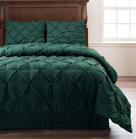 Bed Covers For Size Bed Pinch Pleat Green Corlor 4pc Comforter Set Bed