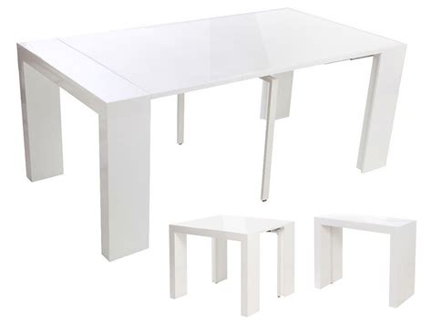 Table Console Extensible Blanche