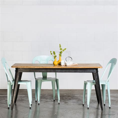 Large Retro Nash Table Black Industrial Dining Melbourne Dining Tables