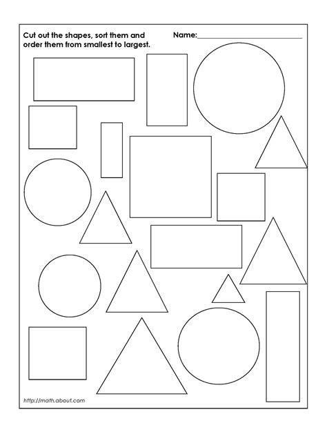 shapes worksheets kindergarten pdf shapes for kids google search ideas for school textile