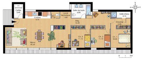 Carport Garage Plans by Plan De Maison Plain Pied 150 M2 Plans Amp Maisons
