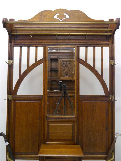 jugendstil garderobe garderobe wandgarderobe jugendstil um 1900 antik eiche ebay