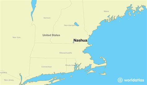 map usa showing new hshire where is nashua nh where is nashua nh located in the
