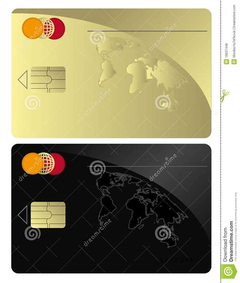 Credit Card Template Gold Credit Card Black Gold Royalty Free Stock Photos Image