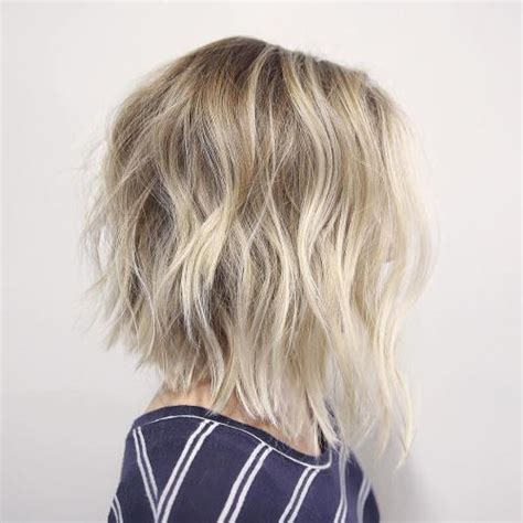 back view of texturized lob 60 messy bob hairstyles for your trendy casual looks