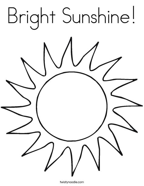 sunshine coloring pages bright sunshine coloring page twisty noodle