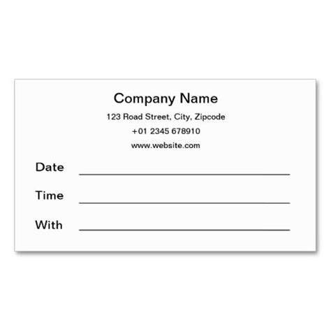 appointment reminder business card template appointment reminder card template images