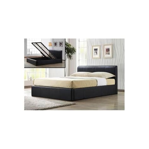 cheap king size ottoman beds buy brown small double 4ft bed faux leather ottoman from