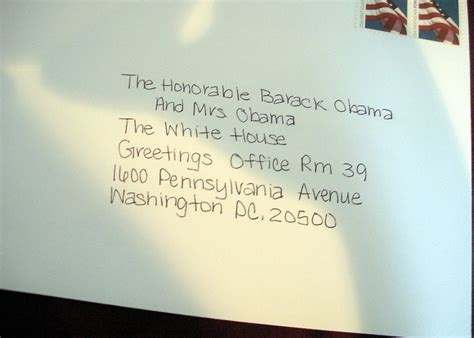 address of the white house if you send a birth annoucement to the white house