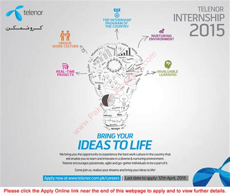 Tv Product Marketing Mba Intern by Telenor Internship Program 2015 Apply Pakistan