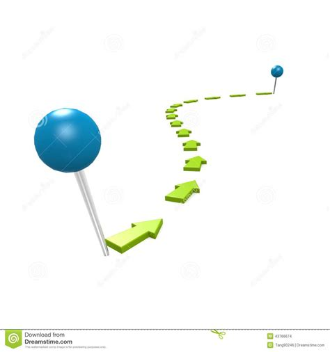 path layout graphic design round pin green path stock illustration image 43766674