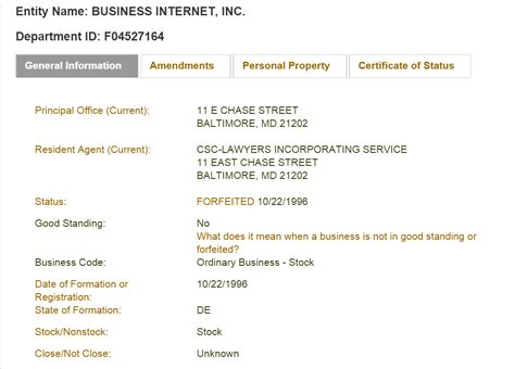 Search In Maryland Maryland Business Entity And Corporation Search Md Of State Sos