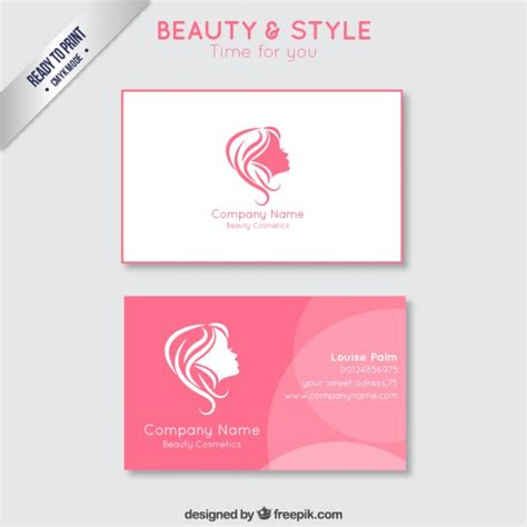 free beautician business cards templates business card vector free
