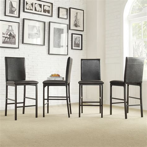 Kitchen Counter Chairs by Inspire Q Darcy Metal Upholstered Counter Height Dining