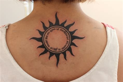 tribal 太陽 sun レタリング ryu s design custom tattoo