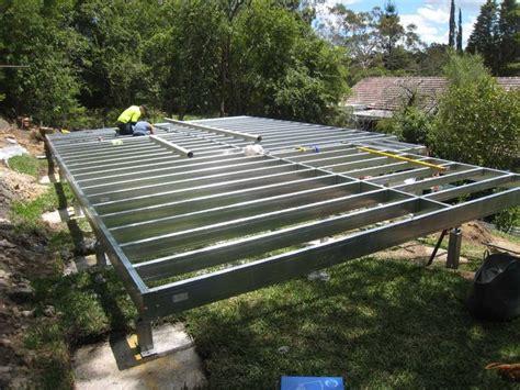 flat floor frame spantec boxspan steel bearer and