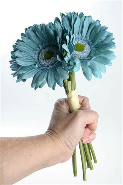 artificial silk flowers gerbera teal artificial silk teal gerbera daisy bundle bushes and
