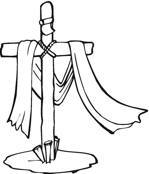 Cross Coloring Pages To Print free printable cross coloring pages for