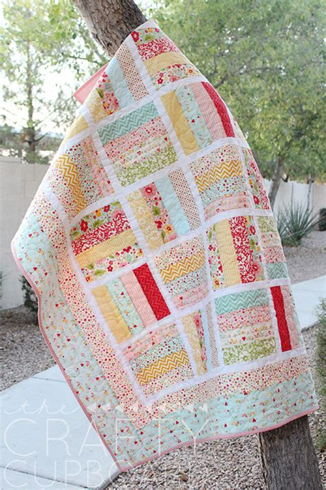 Jelly Roll Quilting Ideas by Easily Adjust The Size Of This Quilt