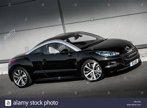 peugeot rcz black black peugeot rcz coupe sports car stock photo royalty