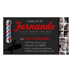 barbershop business card barber pole clippers com