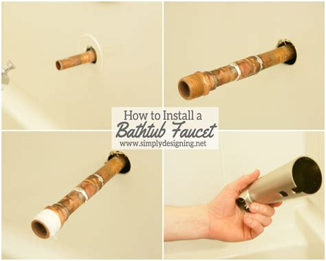 install bathtub faucet how to install a new bathtub faucet when it is
