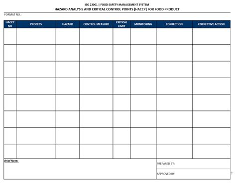 haccp plan template uk exle haccp plan template search results calendar 2015