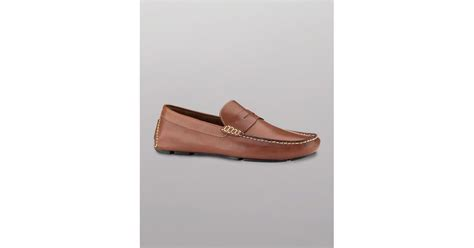 cole haan howland loafers lyst cole haan howland calfskin loafers in brown