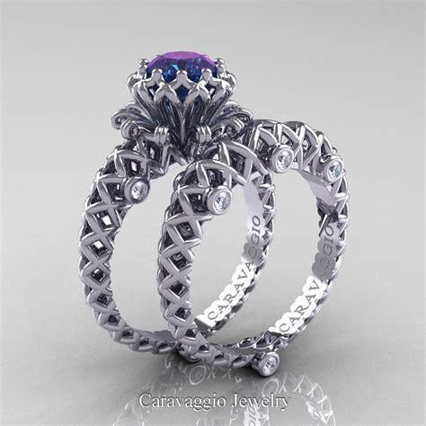caravaggio lace 14k white gold 1 0 ct alexandrite