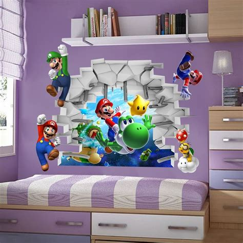 kids games super mario bros  view art wall stickers
